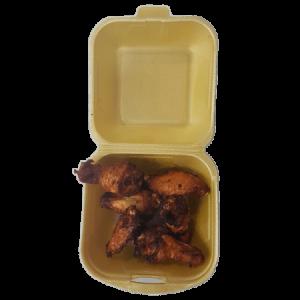 ración de alitas de pollo