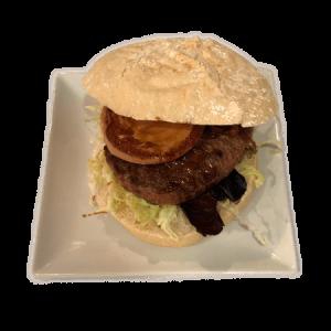hamburguesa de buey con foie