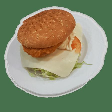 hamburguesa de pollo con queso